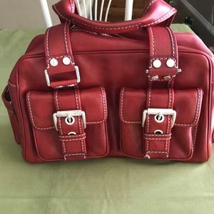Michael Kors Red Leather handbag